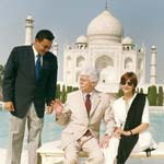 President of Mauritius with Tour Guide