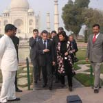 Mr. Nicolas Sarkozy - President of France with Tour Guide